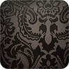 MixMamas Tafelkleed Gecoat Barok – 140 x 250 cm – Zwart