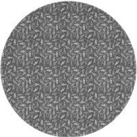 Rond Tafelkleed Gecoat Jacquard - Ø 160 cm - Katten - Grijs