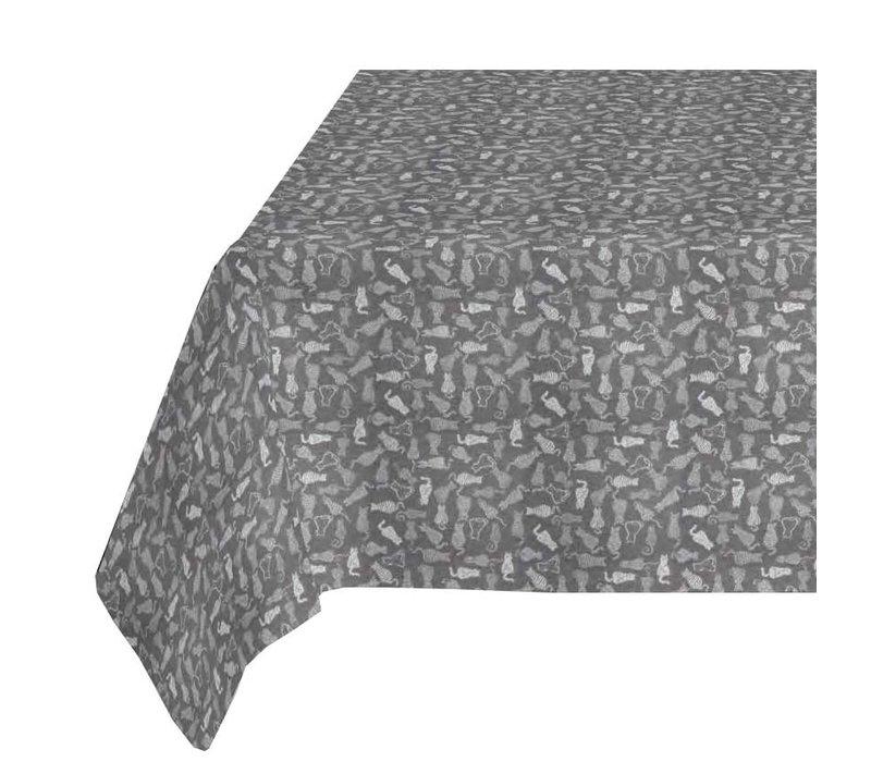 Tafelkleed Gecoat Jacquard - 140 x 250 cm - Katten