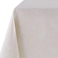 Rond Tafelkleed Gecoat Jacquard - Ø 160 cm -Paisley - Beige/Goud