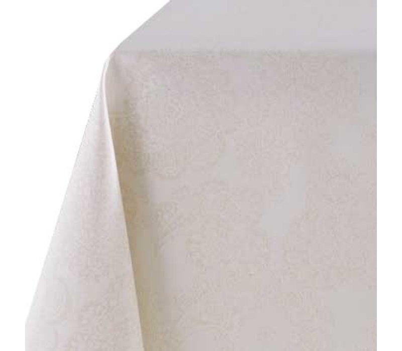 Rond Tafelkleed Gecoat Jacquard - Ø 160 cm - Paisley - Beige/Goud