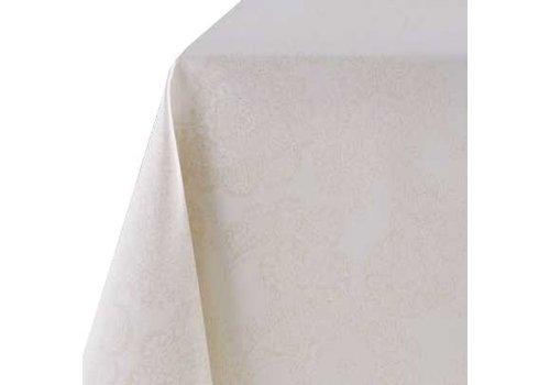 MixMamas Tafelkleed Gecoat Jacquard Paisley 140 x 250 cm - Beige/Goud