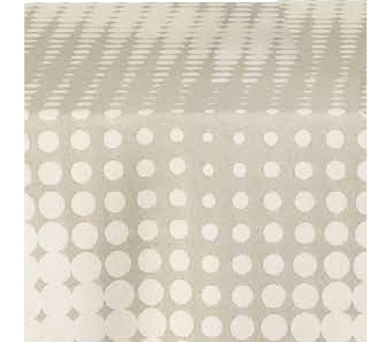 Tafelkleed Gecoat Hippe Stippen- 140 x 250 cm- Beige
