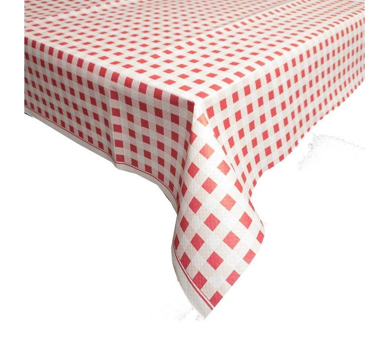 Papieren Tafelkleed 6 stuks Ruit Rood/Wit