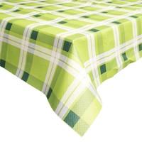Papieren Tafelkleed 6 stuks retro Ruit Groen