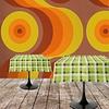 MixMamas Papieren Tafelkleed 6 stuks retro Ruit Groen