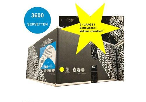 MixMamas Dispenser Servetten - Navulling servethouder 3600 stuks zwart Gracias