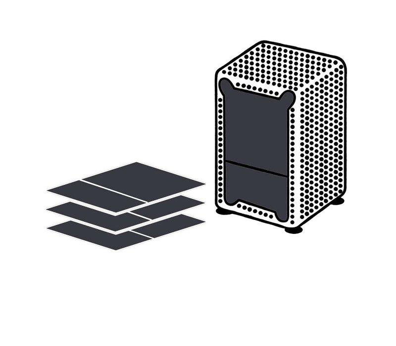 Dispenser Servetten - Navulling servethouder 200 stuks Zwart