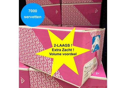 MixMamas Dispenser Servetten - Navulling Groothandel - Doos 7000 stuks - Wit