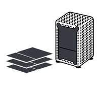 Dispenser Servetten - Navulling servethouder - 500 stuks - Zwart
