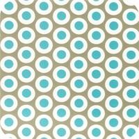 Tafelzeil 140 x 250 cm - Oogjes - Taupe/Turquoise