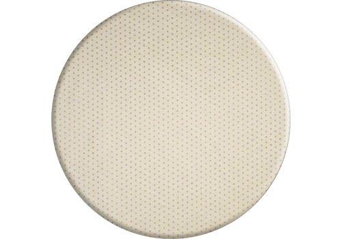 MixMamas Rond Tafelkleed Gecoat Jacquard - Ø 160 cm - Sterren Wit/Zilver