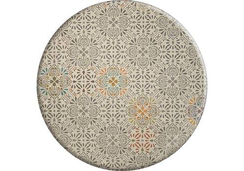 MixMamas Rond Tafelkleed Gecoat - Ø 160 cm - Maroc pale