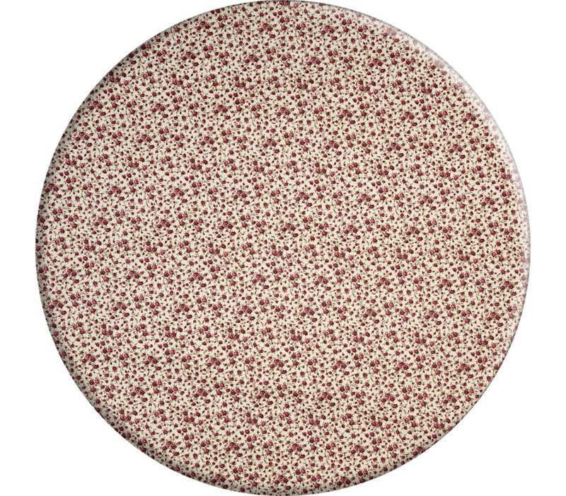 Rond Tafelkleed Gecoat - Ø 160 cm - Roosjes Granaat rood