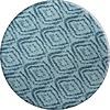 MixMamas Rond Tafelkleed Gecoat - Ø 160 cm - Grote etnische ruit - Blauw