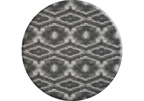 MixMamas Rond Tafelkleed Gecoat - Ø 160 cm - Tie Dye Grijs
