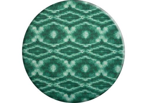 MixMamas Rond Tafelkleed Gecoat - Ø 160 cm - Tie Dye Groen