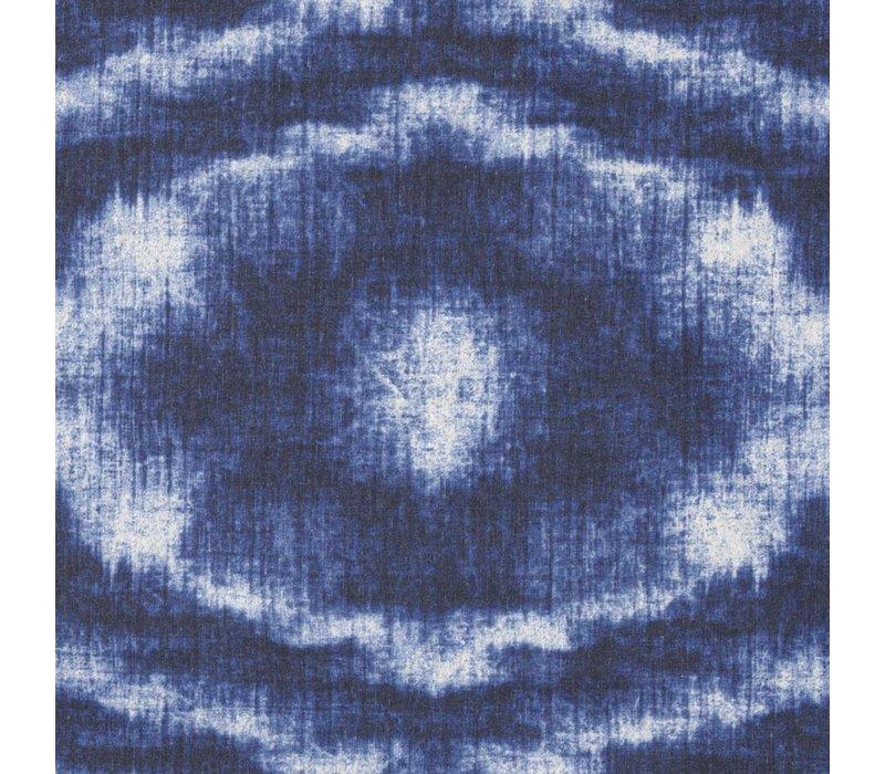 Rond Tafelkleed Gecoat - Ø 160 cm - Tie Dye Blauw