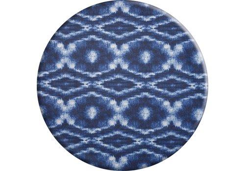 MixMamas Rond Tafelkleed Gecoat - Ø 160 cm - Tie Dye Blauw