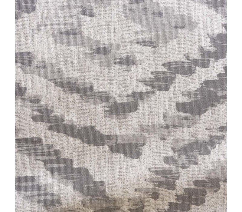 Rond Tafelkleed Gecoat - Ø 160 cm - Grote etnische ruit - Grijs