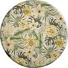 MixMamas Rond Tafelkleed Gecoat - Ø 140 cm - Tropical Hibiscus groen