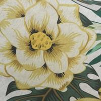 Rond Tafelkleed Gecoat - Ø 140 cm - Tropical Hibiscus groen