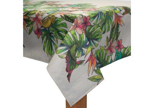 MixMamas Tafelkleed Gecoat - 140 x 250 cm - Tropical Borders