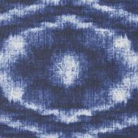 Rond Tafelkleed Gecoat - Ø 140 cm - Tie Dye Indigo Blauw