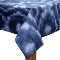 Tafelkleed Gecoat - 140 x 250 cm - Tie Dye Indigo Blauw