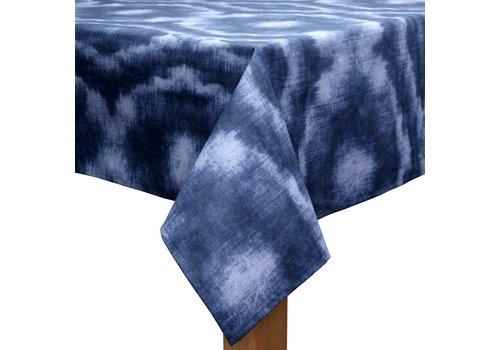 MixMamas Tafelkleed Gecoat - 140 x 250 cm - Tie Dye Indigo Blauw
