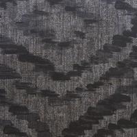 Rond Tafelkleed Gecoat - Ø 160 cm - Grote etnische ruit - Zwart