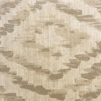 Rond Tafelkleed Gecoat - Ø 160 cm - Grote etnische ruit - Zand