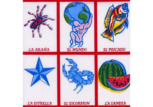 MixMamas Tafelzeil Lotería - 120 x 200 cm - Rood