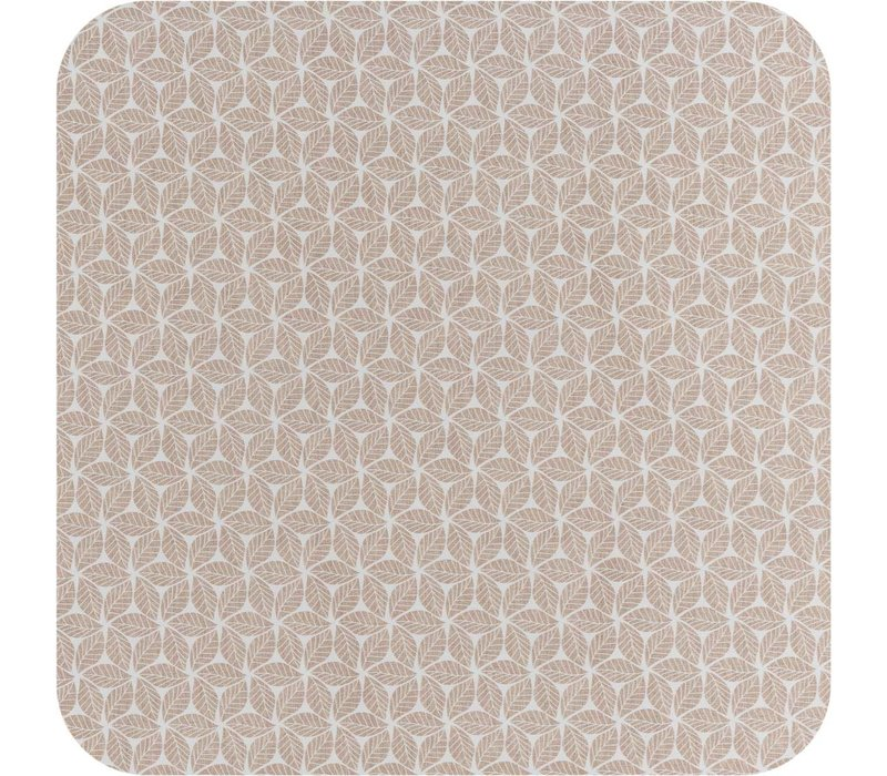 Tafelzeil 140 x 250 cm - Graphic-leaves-taupe