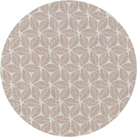 Tafelzeil Rond - Ø 140 cm - Graphic-leaves-taupe