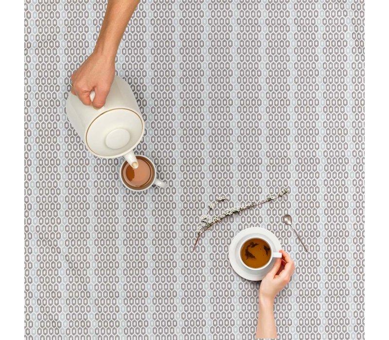Tafelzeil 140 x 250 cm - Honingraat - Hexagon - Zwart/Blauw