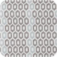 Vierkant Tafelzeil - Ø 140 cm - Honingraat - Hexagon - Zwart/Blauw