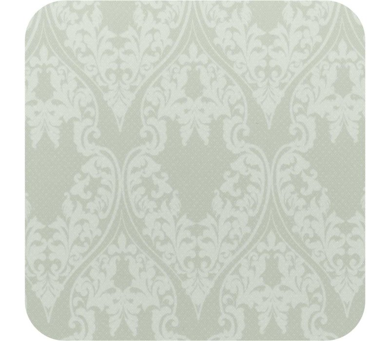 Plastic Tafelkleed Vierkant 140 cm - Ornaments Almond Green