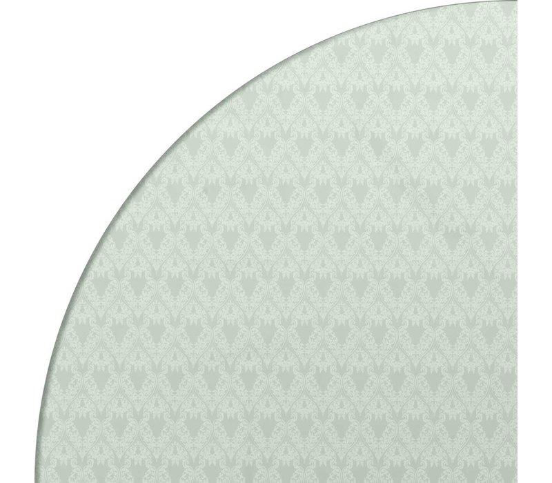 Tafelzeil Rond - Ø 140 cm - Ornaments Almond Green
