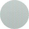 MixMamas Rond Tafelzeil - Ø 140 cm - Oogjes - Taupe/Turquoise