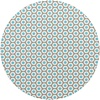 MixMamas Tafelzeil Rond - Ø 140 cm - Oogjes - Taupe/Turquoise