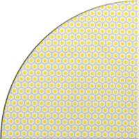 Rond Tafelzeil - Ø 140 cm - Oogjes - Grijs/Geel
