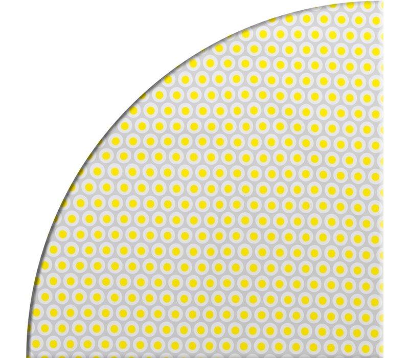 Tafelzeil Rond - Ø 140 cm - Oogjes - Grijs/Geel