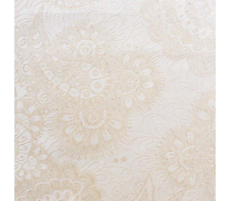 Rond Tafelkleed Gecoat Jacquard - Ø 160 cm - Paisley Linnen  - Beige