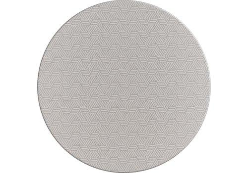 MixMamas Rond Tafelkleed Gecoat Jacquard - Ø 160 cm – Seamless Hexagon