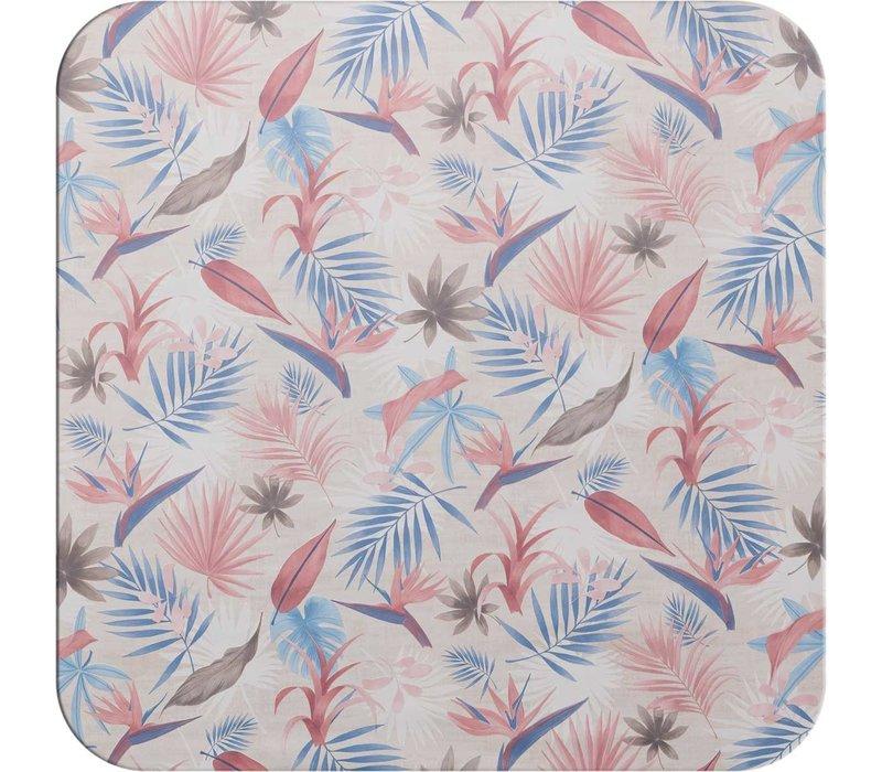 Tafelzeil - 140 x 250 cm -  Tropical - roze