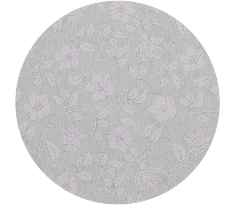 Rond Tafelzeil - Ø 140 cm - Strakke bloem - groen