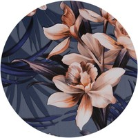 Rond Tafelzeil - Ø 140 cm - Hibiscus - Blauw