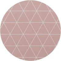Rond Tafelzeil - Ø 140 cm - Grafische print terra - roze