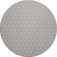 Rond Tafelzeil - Ø 140 cm - Grafische print - grijs